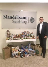 Mandelbaum Salsburg Gives Back to the Isaiah House Food Pantry of East Orange